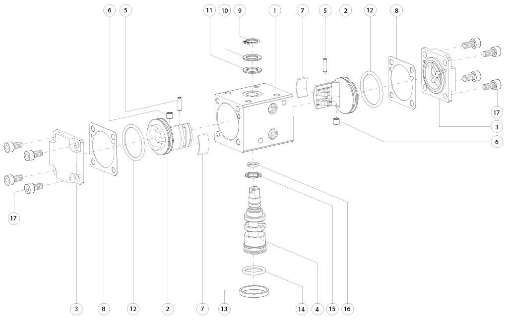 Actionneur pneumatique double effet GD en aluminium - matériaux - COMPOSANTS ACTIONNEUR PNEUMATIQUE DOUBLE EFFET MESURE: GD8