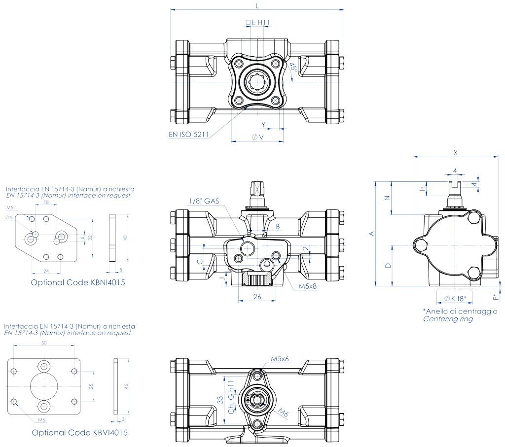 Actionneur pneumatique simple effet GS inox CF8M microcoulé - dimensions - GS15