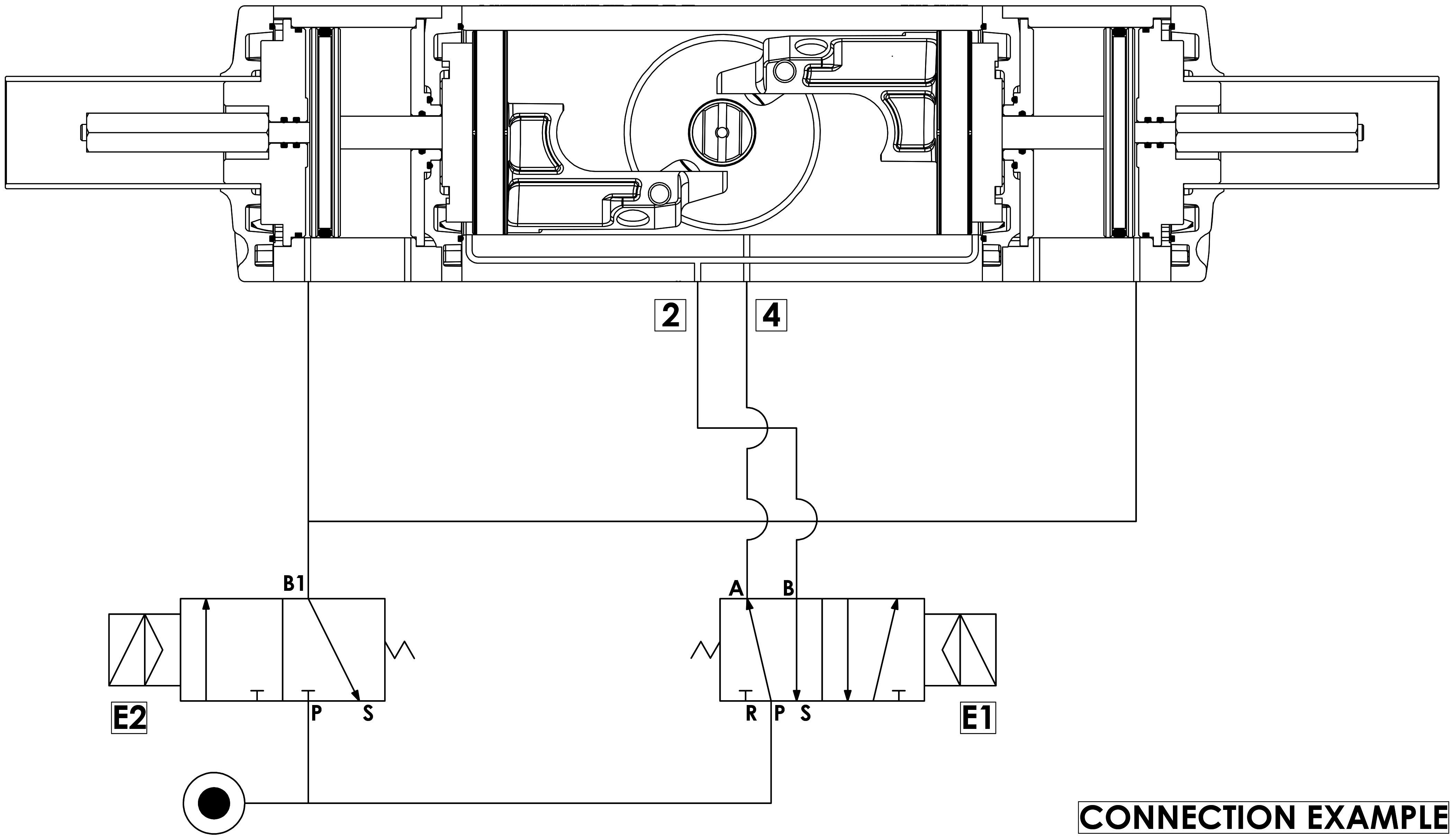 GDD Actionneur de dosage pneumatique en aluminium - spécifications - Schéma de fonctionnement