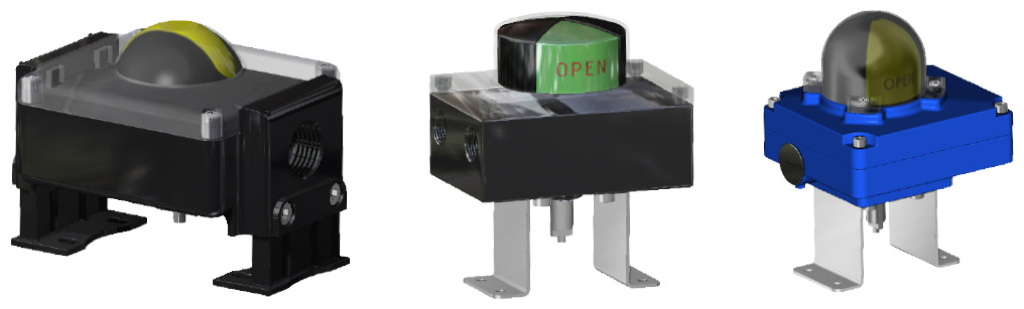 Actionneur pneumatique simple effet GS haute température (-20°C / +150°C) - accessoires - BOÎTIER DE SIGNALISATION AVEC FIN DE COURSE