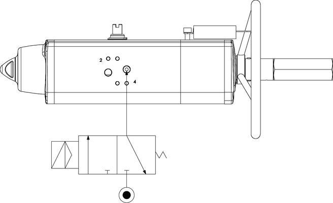 Actionneur pneumatique simple effet GSV avec commande manuelle intégrée - spécifications -