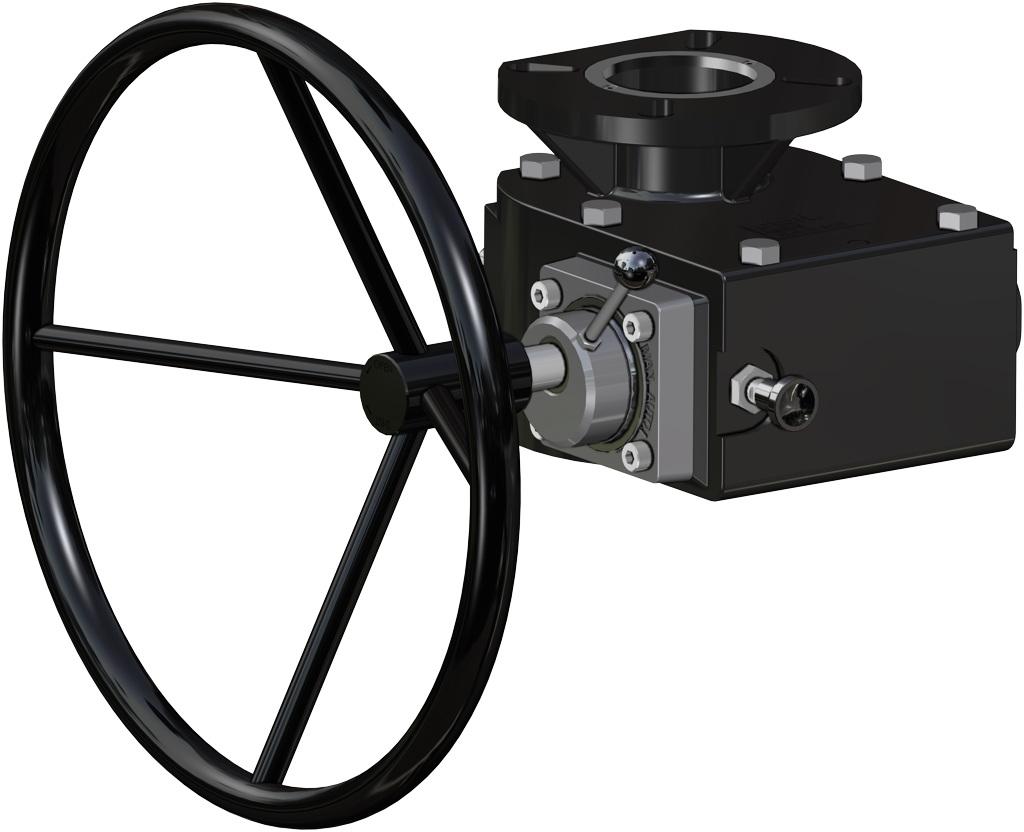 Actionneur pneumatique simple effet GS inox CF8M microcoulé - accessoires - COMMANDE MANUELLE DE DÉBLOCAGE