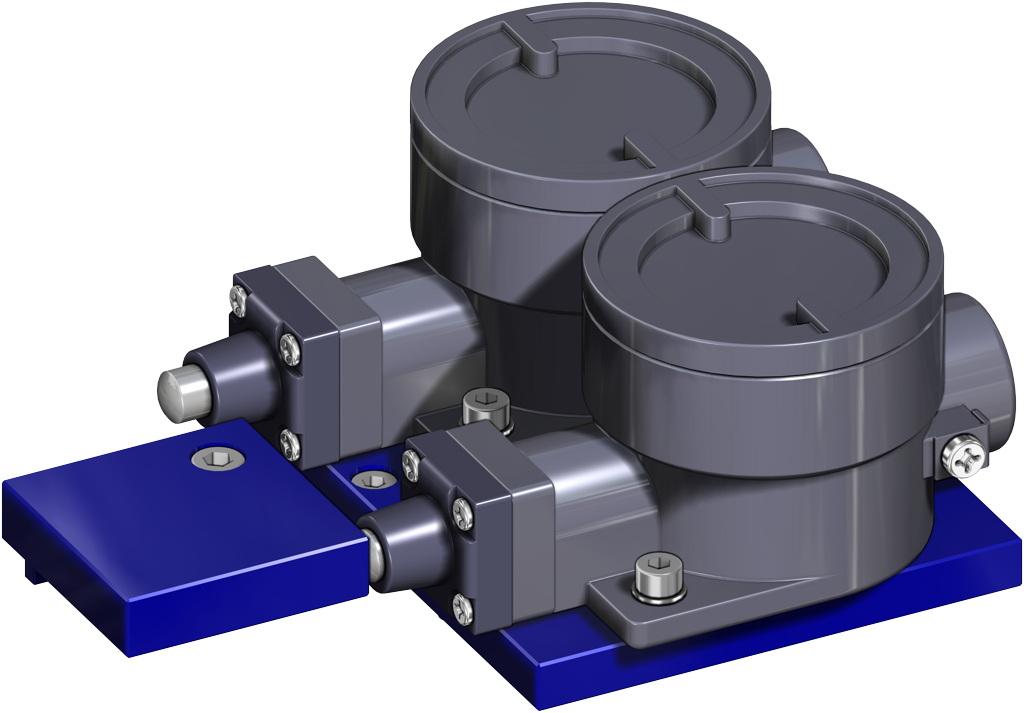 Actionneur pneumatique simple effet GS inox CF8M microcoulé - accessoires - FINS DE COURSE ANTIDÉFLAGRANTS II2GD ExdIIC