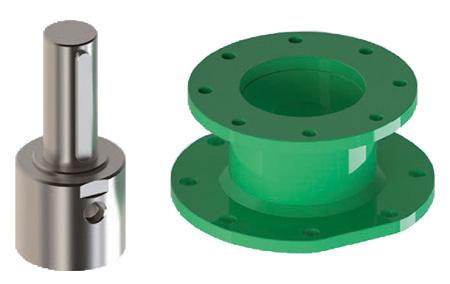 Actionneur pneumatique simple effet GS Heavy Duty acier au carbone  - accessoires - Connecteur - Manchon