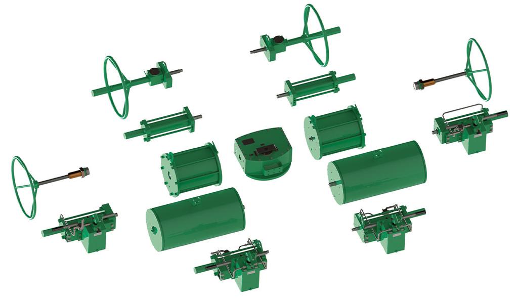 Actionneur pneumatique simple effet GS Heavy Duty acier au carbone  - accessoires - Construction modulaire