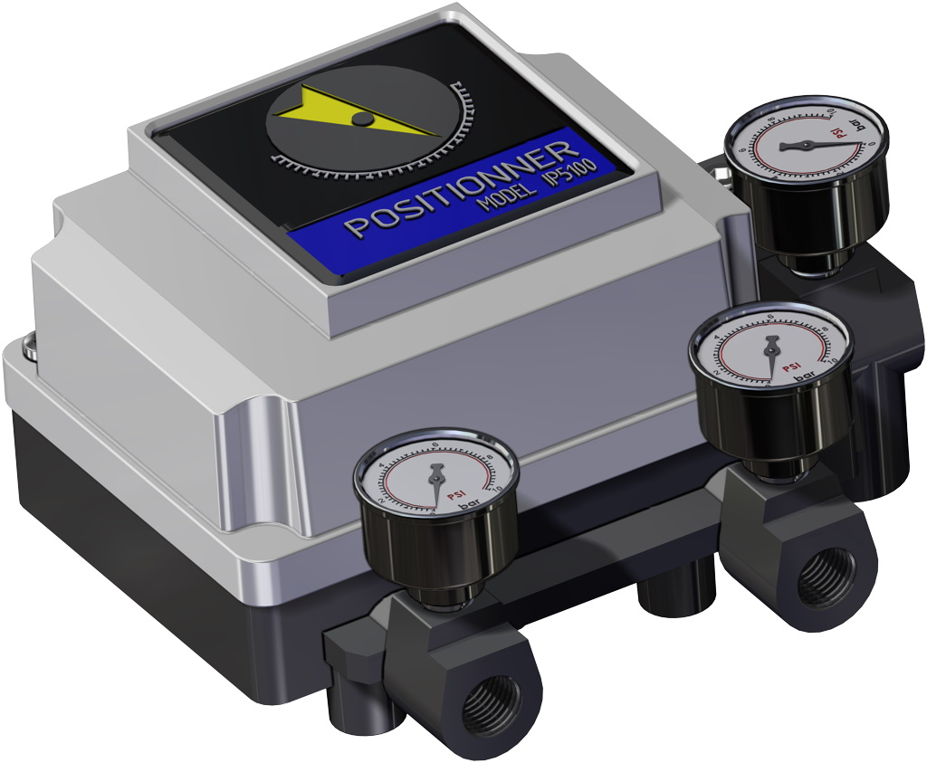 Actionneur pneumatique double effet GD en aluminium - accessoires - POSITIONNEUR PNEUMATIQUE